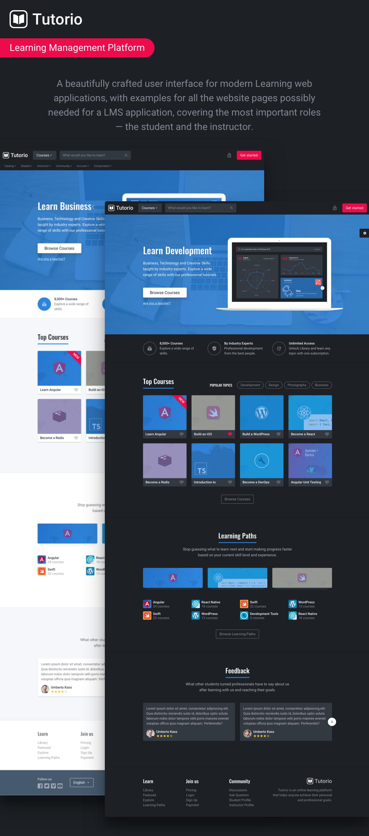 Tutorio Bootstrap - Education Platform UI/UX